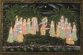 An Indian Style Cloth Painting