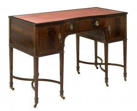 A Sheraton Style Mahogany Writing Table