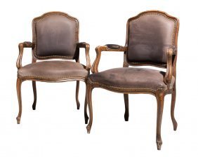 A Pair Of French Style Fauteuils
