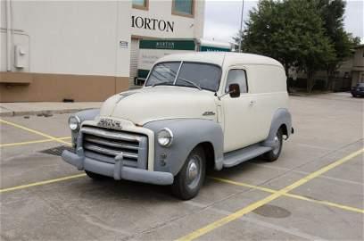 A 1948 GMC PANEL TRUCK