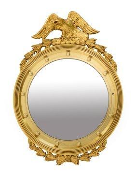 A Federal Style Giltwood Bullseye Mirror