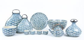 A Collection Of Vietnamese Blue And White Ceramic