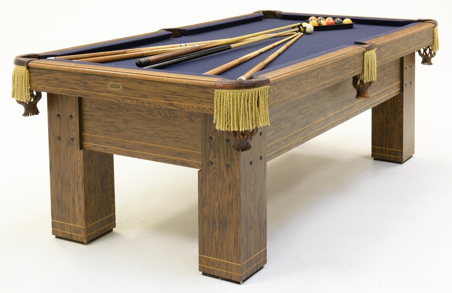 A 'BILLIARD FACTORY' POOL TABLE