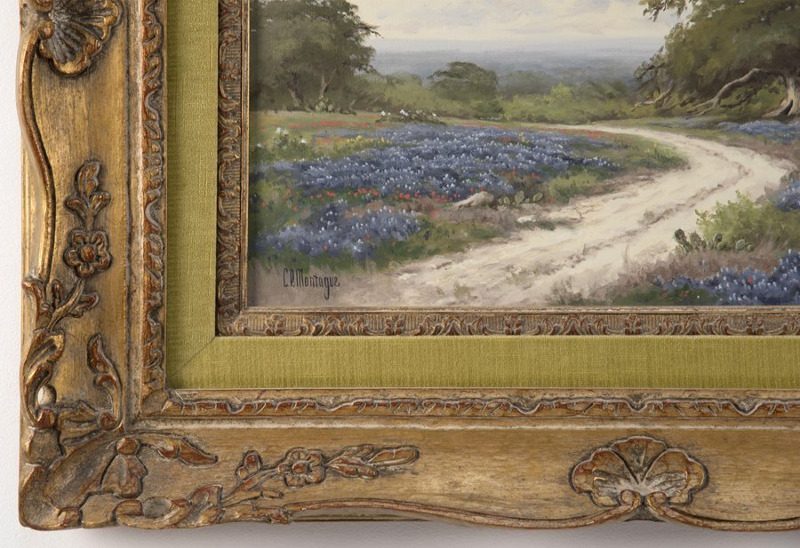 C.P. MONTAGUE, (American, 1927-2010), Bluebonnets, Oil - 3