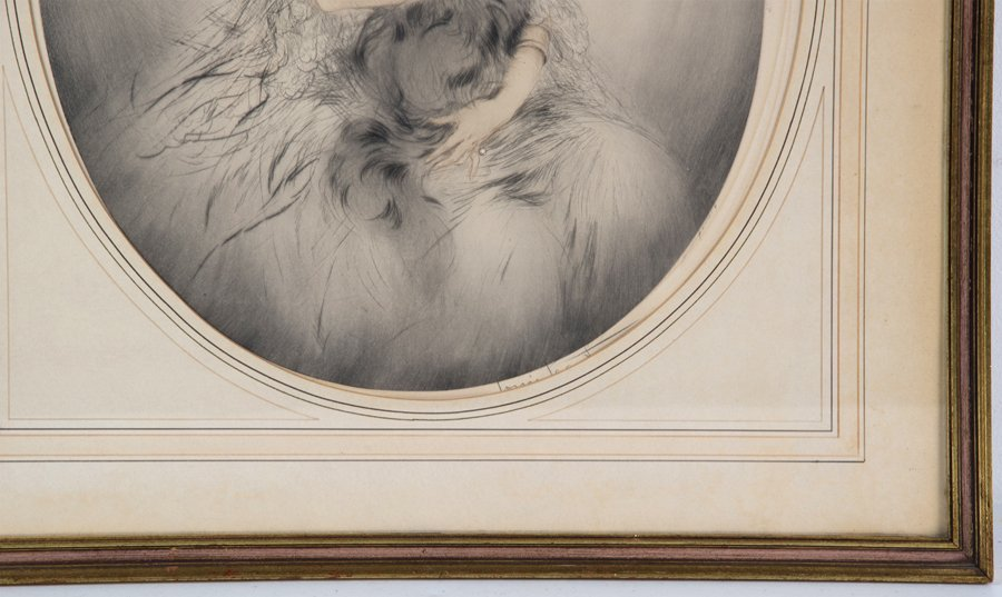 LOUIS ICART, (French, 1888-1950), Persian Cat, Etching, - 3