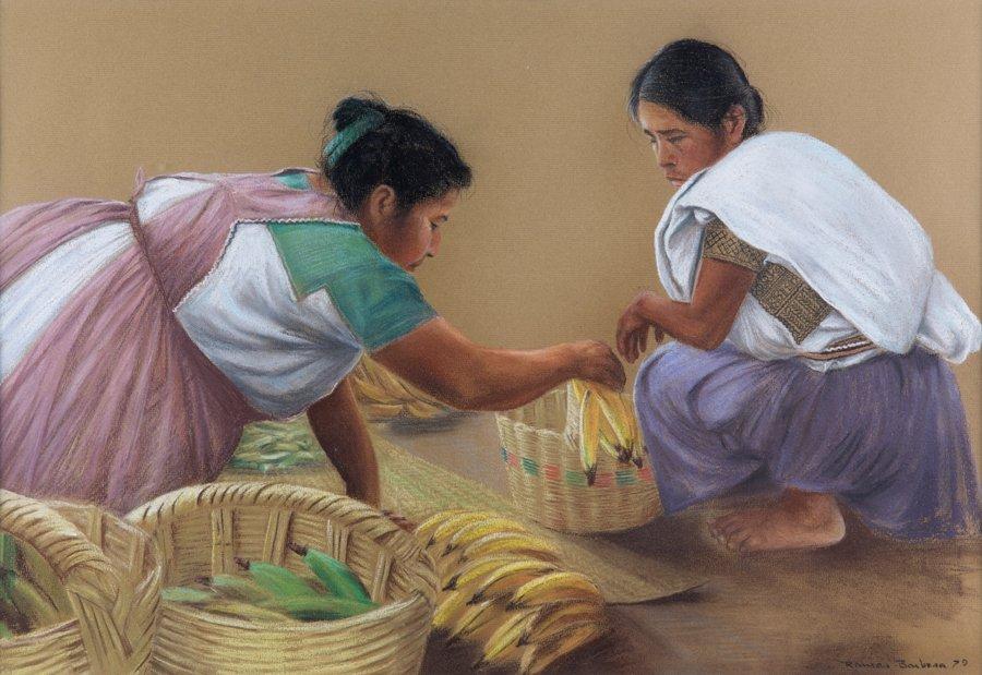 ANTONIO RAMOS BARBOSA, (Mexican, 1942-2005), Two Women