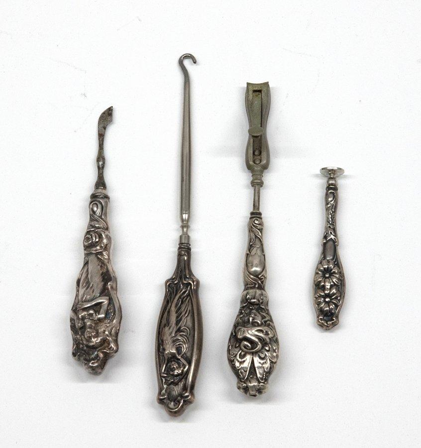 A COLLECTION OF STERLING SILVER ART NOUVEAU DRESSER - 7