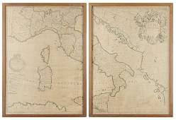 JOHN SENEX, (English, 1678-1740), A New Map of Italy,