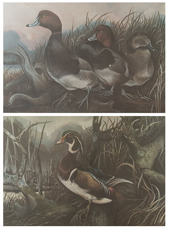 TWO OFF-SET LITHOGRAPHS BY OLIVER SNOW