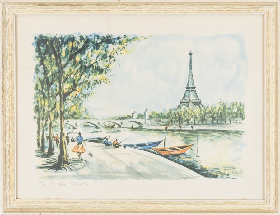 TWO PARISIAN WORKS ON PAPER SCENES BY C.P. DUCOLLET