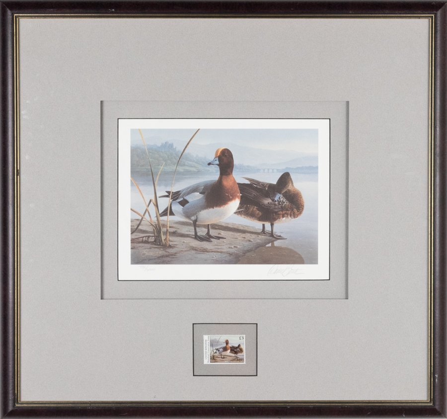 A COLLECTION OF DUCK PRINTS WITH COMMEMORATIVE STAMPS - 2