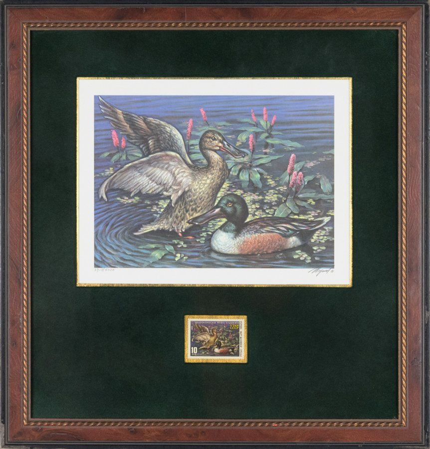 A COLLECTION OF DUCK PRINTS WITH COMMEMORATIVE STAMPS - 5