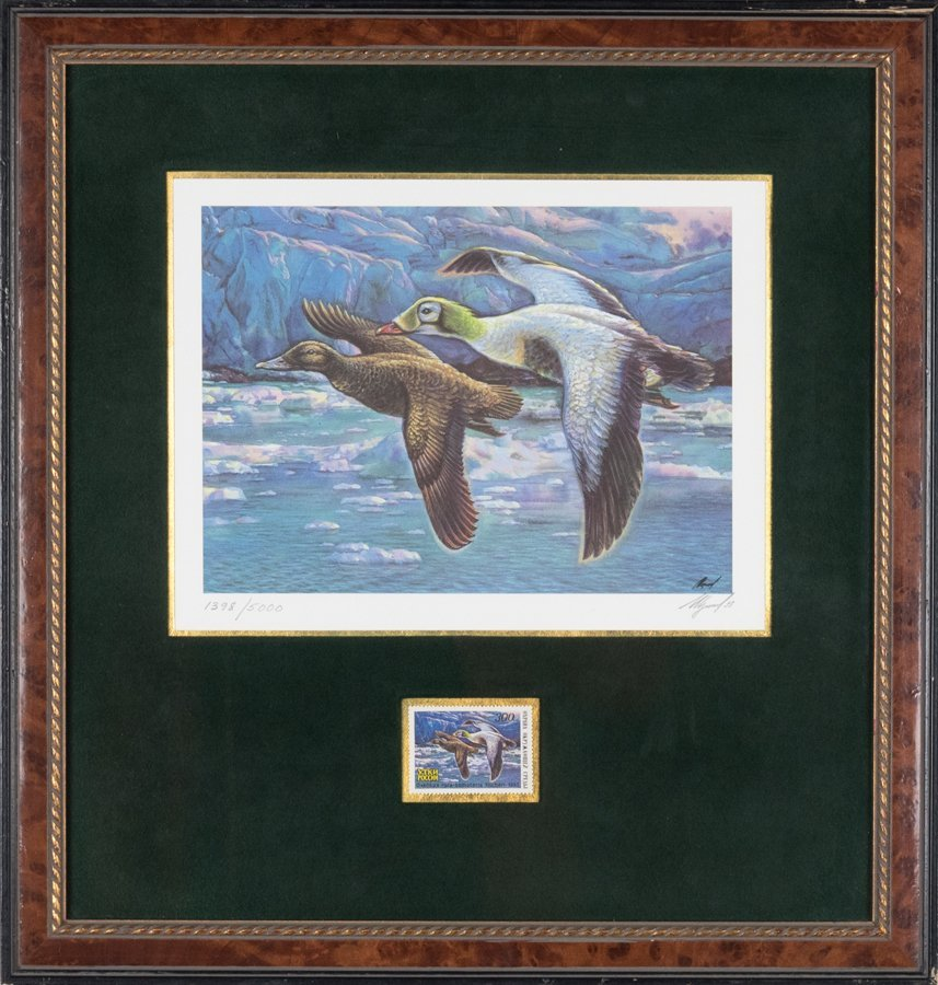 A COLLECTION OF DUCK PRINTS WITH COMMEMORATIVE STAMPS - 6