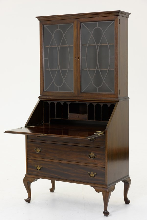 A QUEEN ANNE STYLE FALL-FRONT SECRETARY
