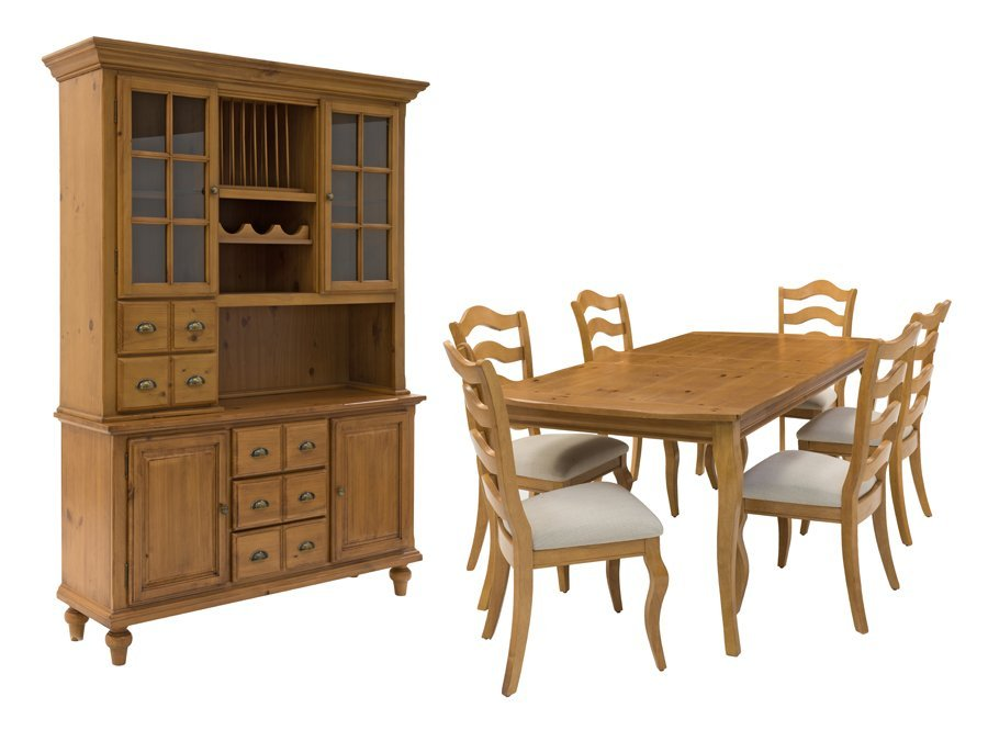 A FRENCH PROVINCIAL STYLE DINING SET
