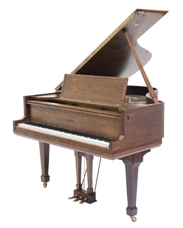 A SOHMER & CO. OAK BABY GRAND PIANO