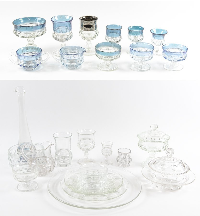 A GROUP OF KINGS CROWN GLASS TABLE WARES