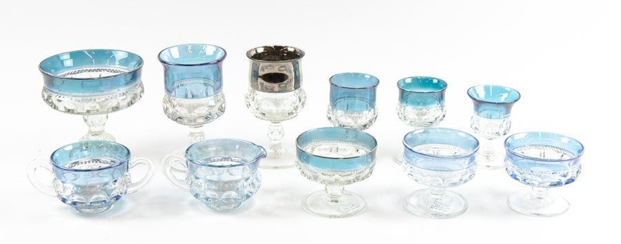 A GROUP OF KINGS CROWN GLASS TABLE WARES - 2