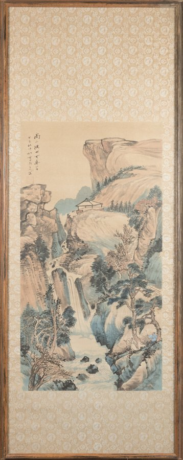 AN ASSOCIATED PAIR OF CHINESE SCROLL PAINTINGS, EACH - 2