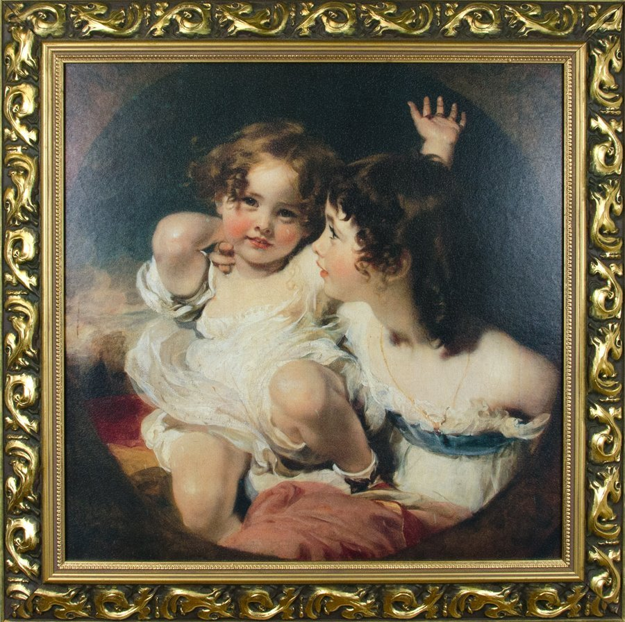A PAINTING OF TWO CHILDREN