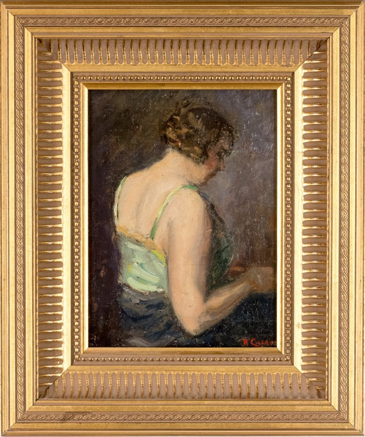 ROBERT CUSNER, (20th Century), Portrait of a Woman, Oil