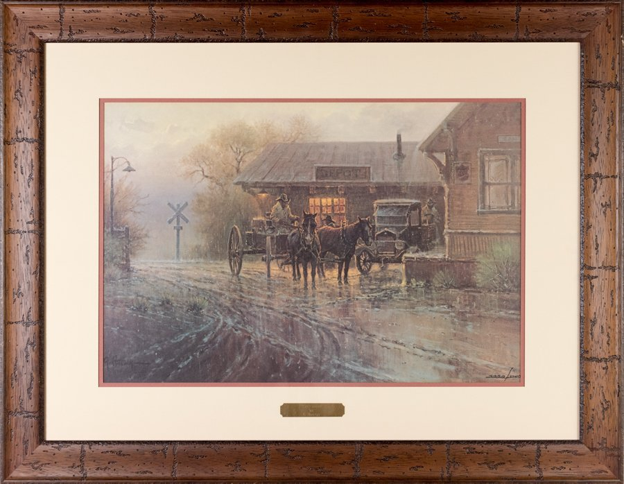 KATY DEPOT BY G. HARVEY OFF-SET LITHOGRAPH