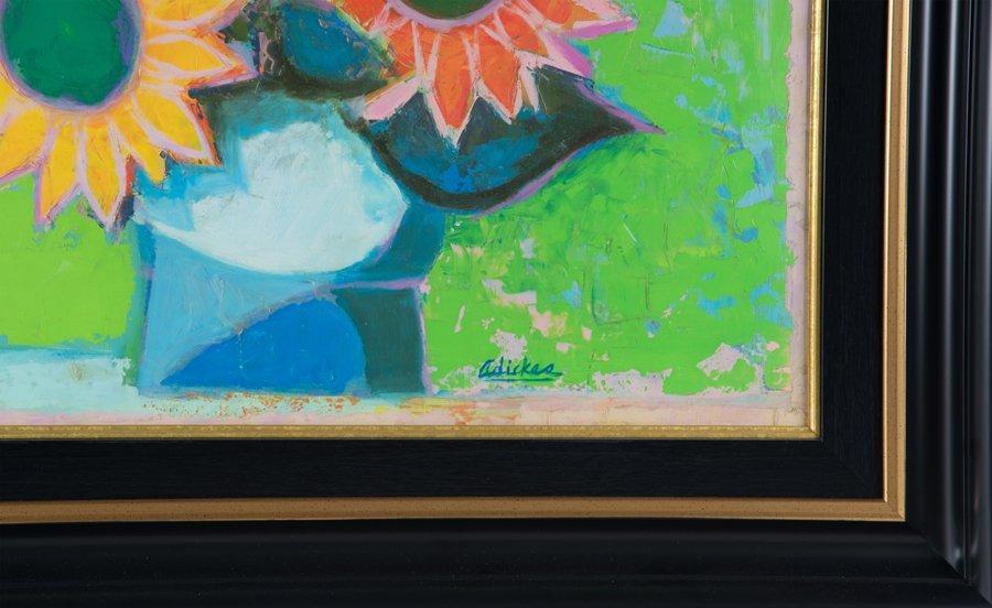 DAVID ADICKES, (American, b. 1927), Sunflowers, Oil on - 3