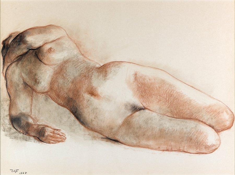 FRANCISCO ZUNIGA, (Mexican, 1912-1998), Nude, 1968,