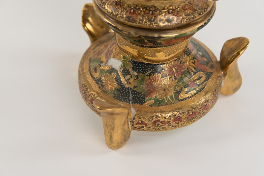 A COLLECTION OF CHINESE SATSUMA STYLE ITEMS - 4