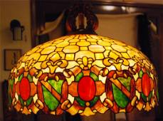 American Stained Glass Hanging Lamp