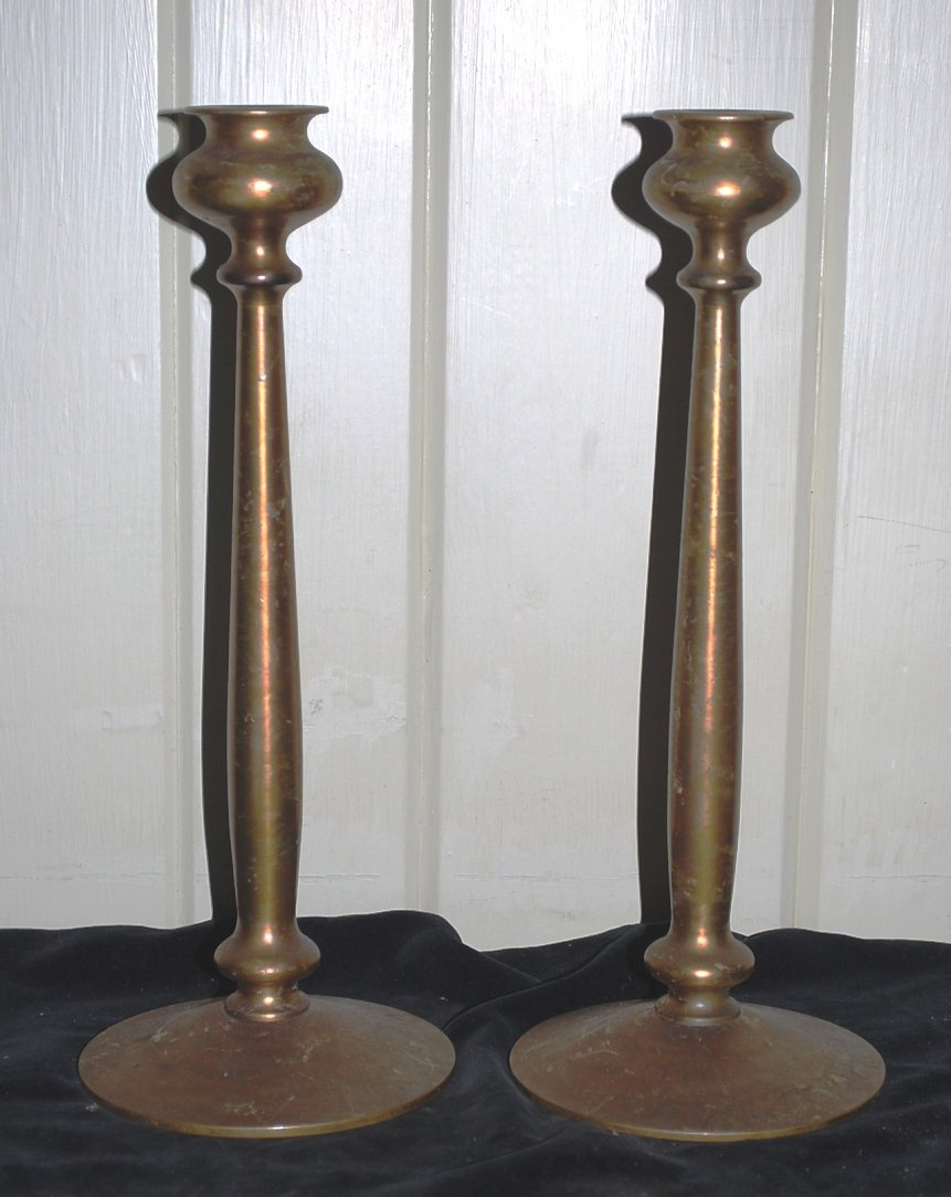 American Arts & Crafts Bronze Andirons