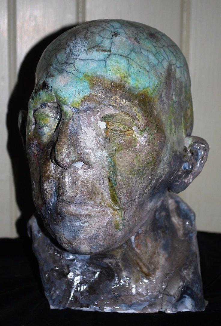 Mid Century Modern,Ceramic Moss Man
