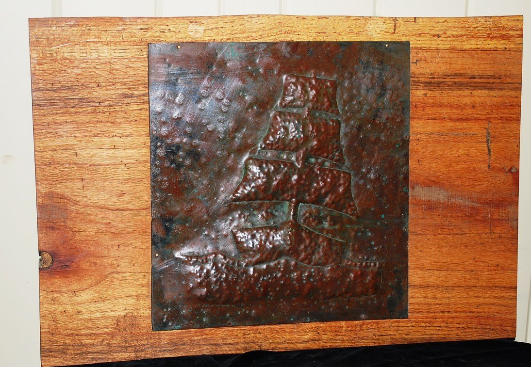 Heavy Copper Hammered Plaque