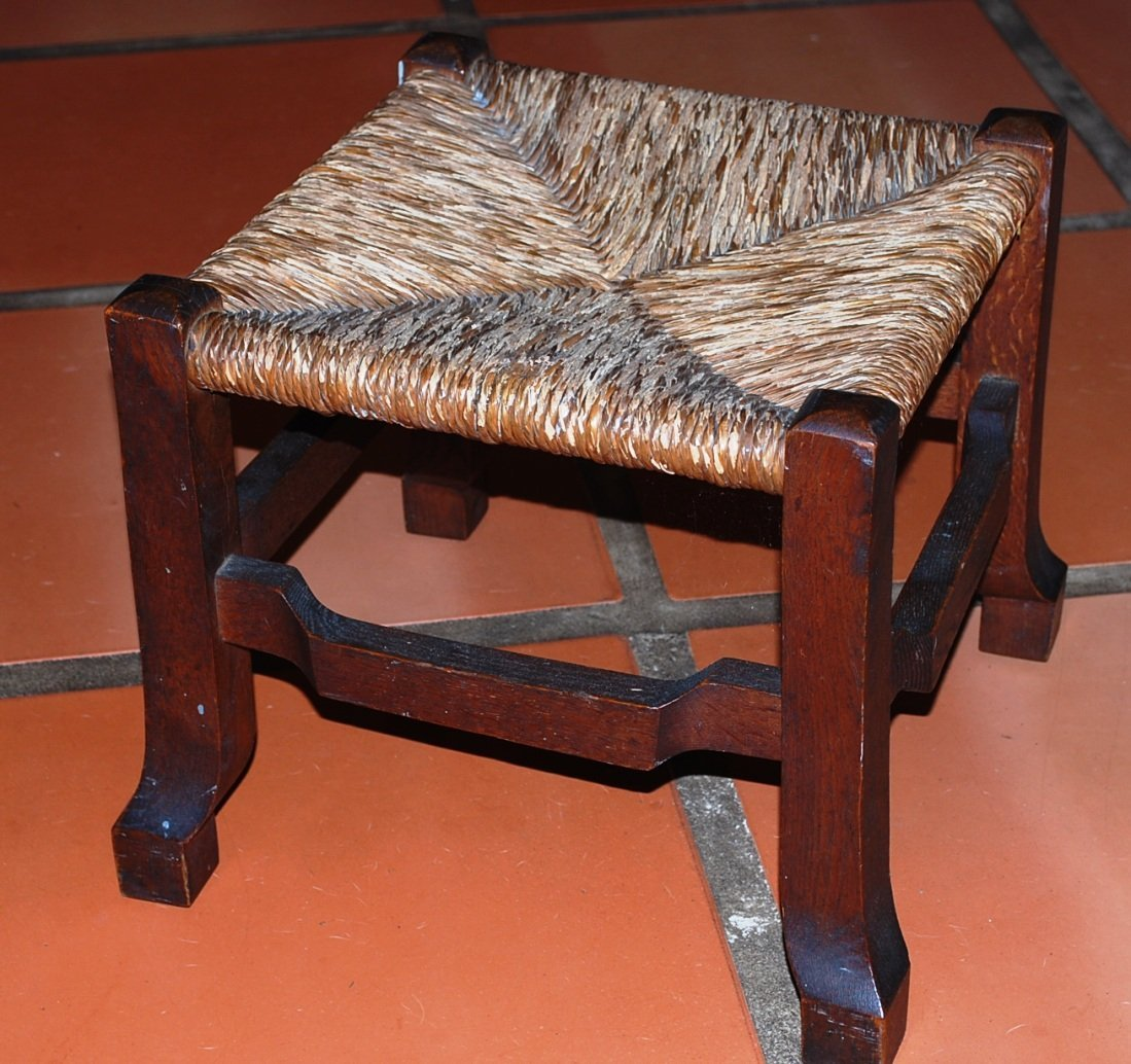 Arts & Crafts Oak Mission Footstool