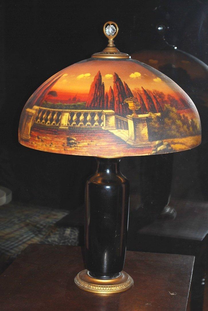 Reverse Painted Lamp * 1910 - 1915