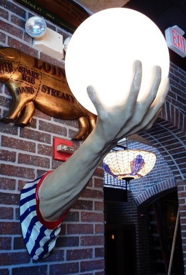 3 Dimentional Arm with Lighted Globe