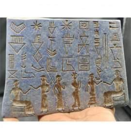 ANCIENT RARE OLD LAPIS LAZULI STONE SASSANIAN TABLET