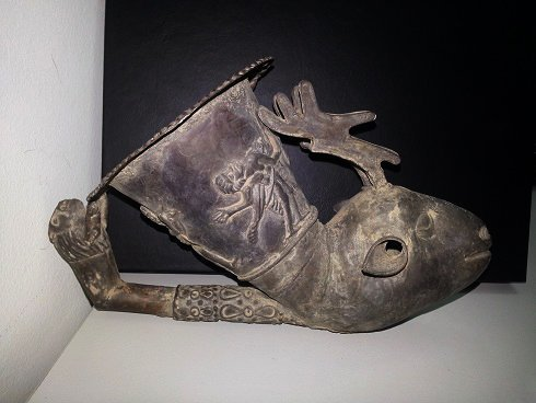 Old Lovely Afghan Silver Wine Pike Drinker Rhyton