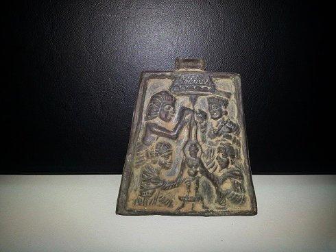 Vintage Silver Afghan Pendant With Budda worshippe r#16