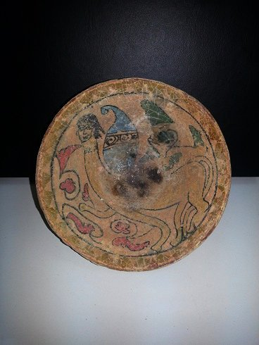 Preown Persian Ceramic Bowl With writing & picture # 24