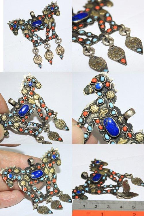 Superb  Lapis lazuli Stone Afghan Pendant # 9