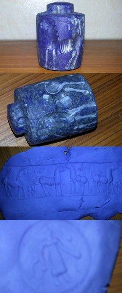 Lapis lazuli Preown Intaglio Carving Stamp SEAL @2
