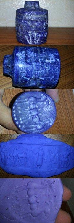 Lapis stone  Preown Intaglio Carving Stamp SEAL @3