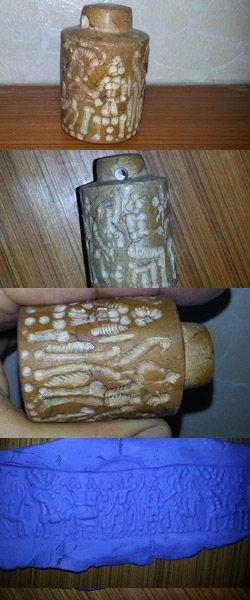 Big Intaglio  Garnet  stone  Preown  Stamp SEAL @9