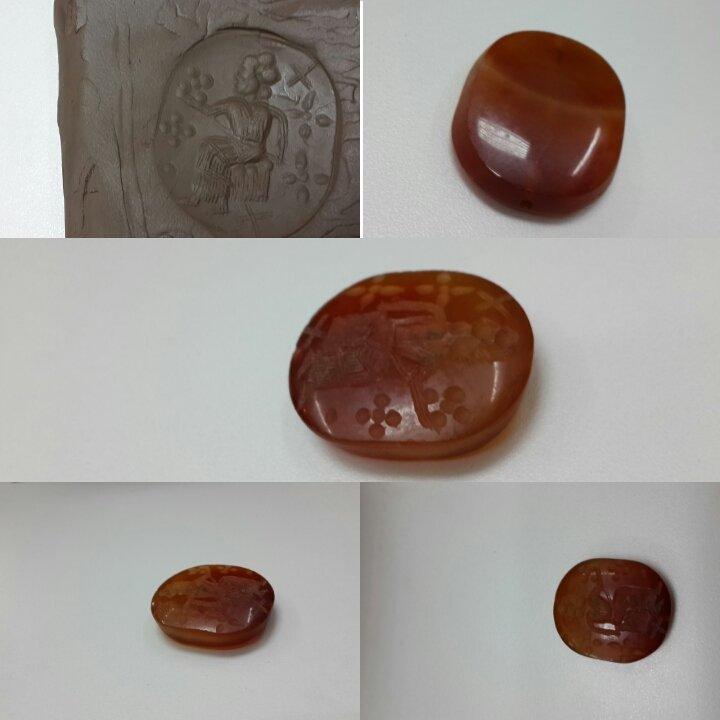 Stunning  Near Eastern Intaglio Agate Stone BEAD .