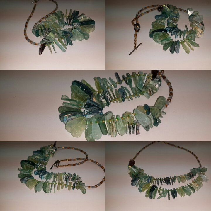 Excellent Roman Glasss Patina Glass Beads Necklace
