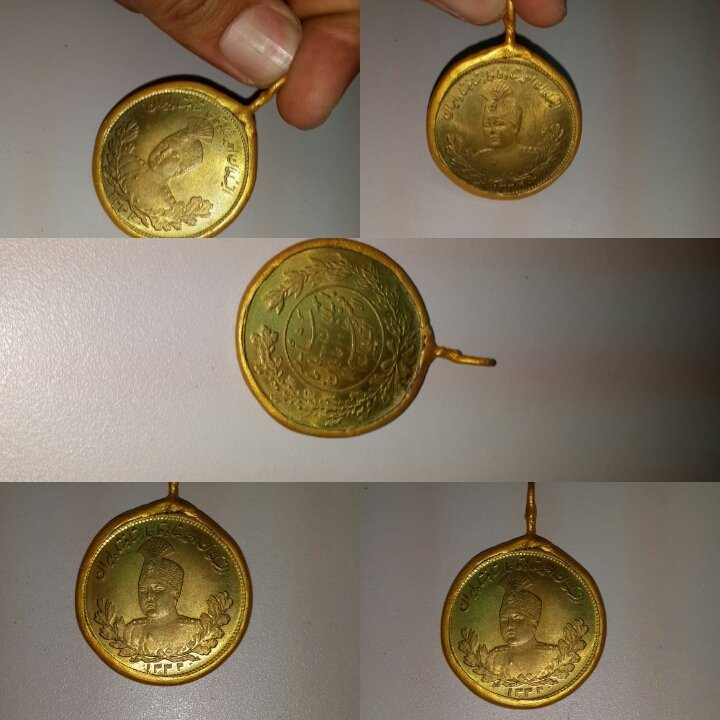 Lovely Persian Coin   Design in  Gold plated Pendant