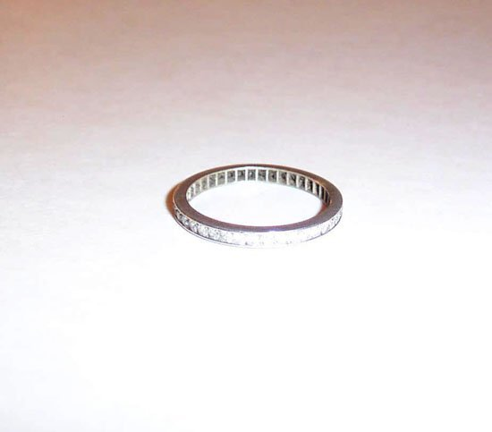 5: Diamond and White Gold Wedding Band