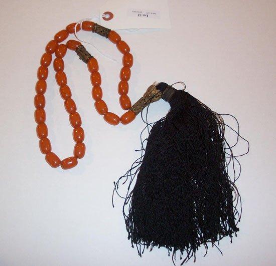 12: Worry Beads, Carnelian and Amber