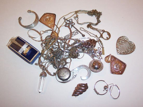 24: LOT OF ASSORTED SILVER & STERLING SILVER